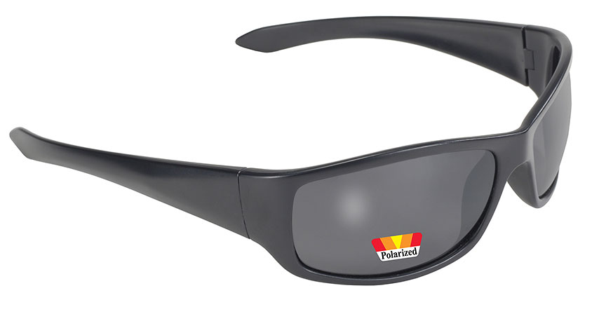 Road Wrap - Smoke Polarized/Black Kickstart Road Wrap Polarized Smoke Lens, Kickstart Motorcycle Wrap Sunglass