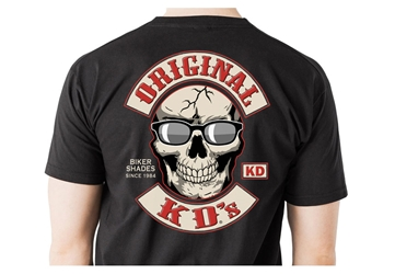 KD T-Shirt (Click on Image) Motorcycle T-Shirt, Biker T-Shirt, Original KDs Sunglasses T-Shirt, XL Motorcycle T-Shirt,