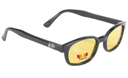 KDs -  20129 Polarized Yellow Original KDs Yellow Polarized Lenses, polarized yellow lenses, biker sunglasses,