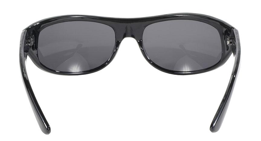 Smoke Lens Black Frame 207 Biker Motorcycle Sunglasses Kickstart® Eyewear Wrap