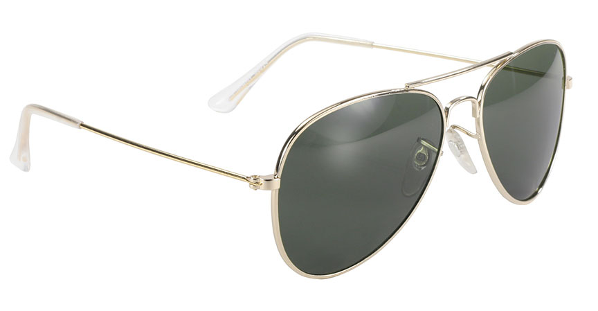 Aviator - Grey/Green Lens/Gold Frame 80010