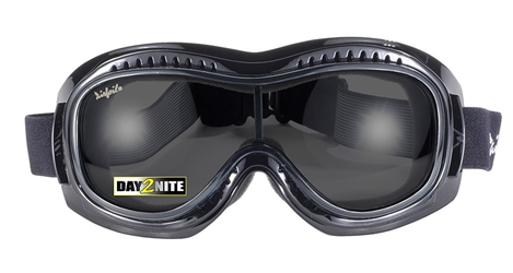 Airfoil 9311 Goggle - Day2Nite Grey/Black- Can Be Worn Over Eyeglasses! 9311