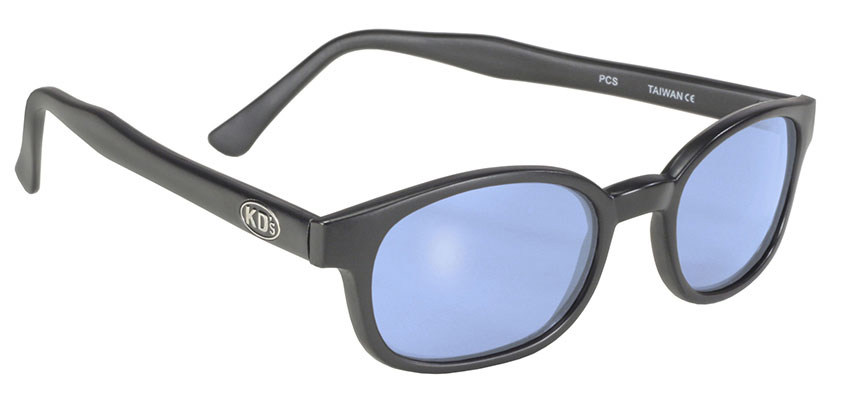 X - KDs - 10012 Matte Black/Light Blue big motorcycle sunglasses, Blue lenses, Blue lens sunglass, the best blue lens sunglasses, UV Protection