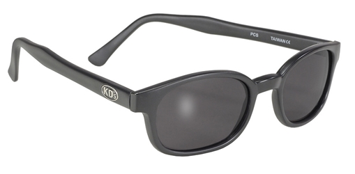 KDs - 21120 Matte Black/Dark Grey Lens KD sunglasses, motorcycle sunglasses, matte frame, dark grey lenses, biker sunglasses,