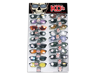 KD Skull 18 Piece Metal Counter Display