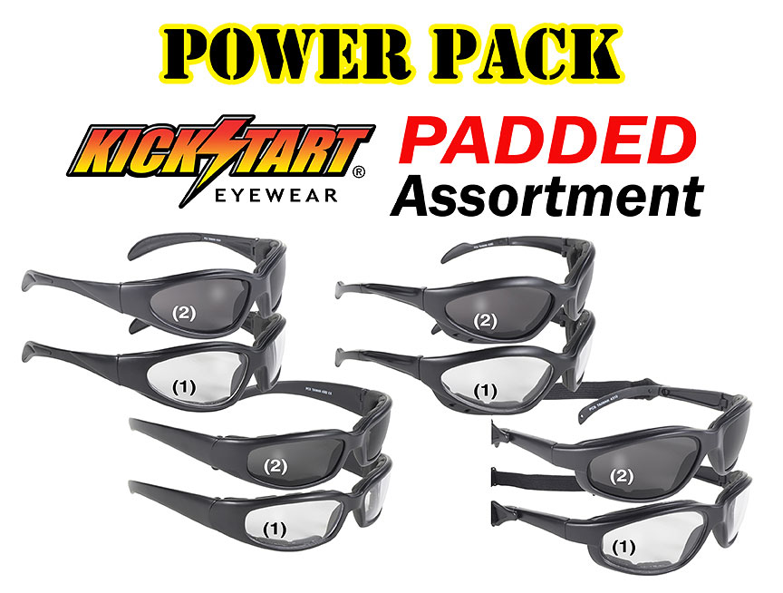 Padded Power Pack Fit over sunglass assortment pack,