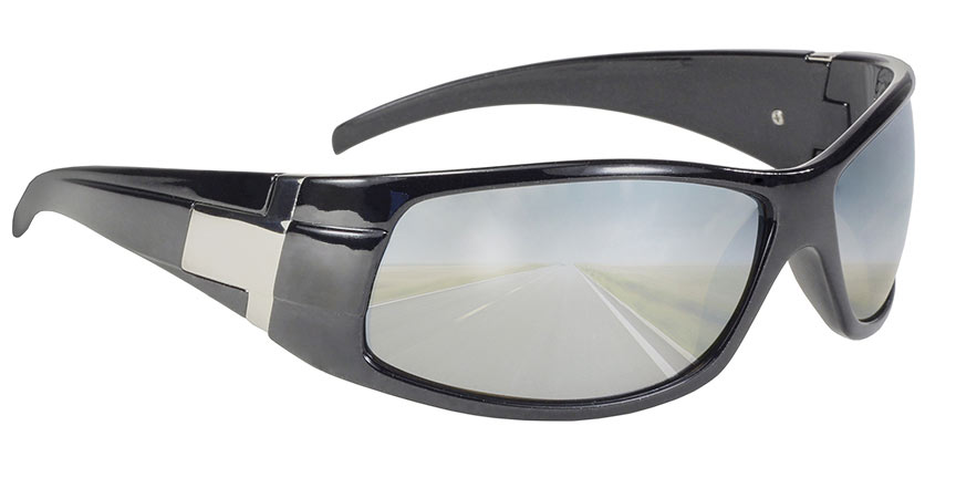 Road Run - Silver Mirror Grey Lens/Black Metallic Frame 4100
