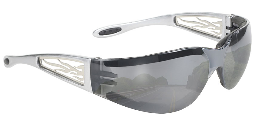 Heat - Light Silver Mirror Lens/Silver Metal Flames 4440
