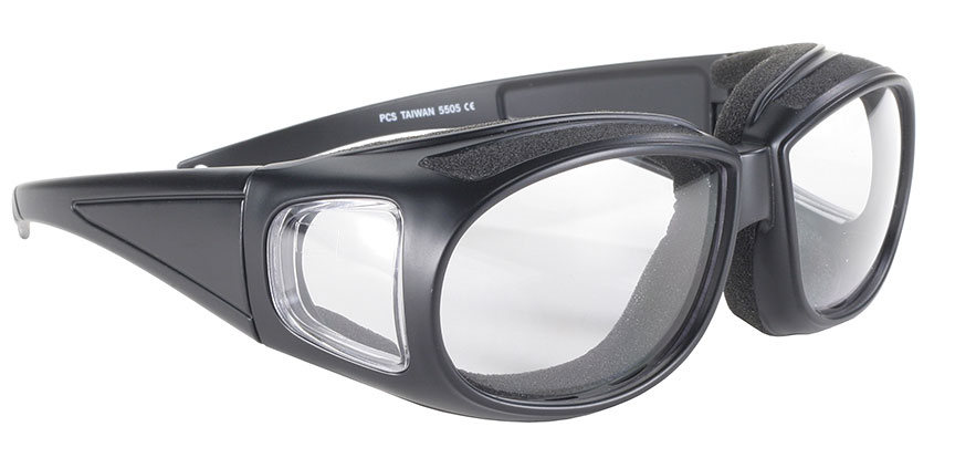 Defender - Clear/Black - Can Be Worn Over Eyeglasses! 5505