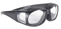 Defender - Clear/Black - Can Be Worn Over Eyeglasses!